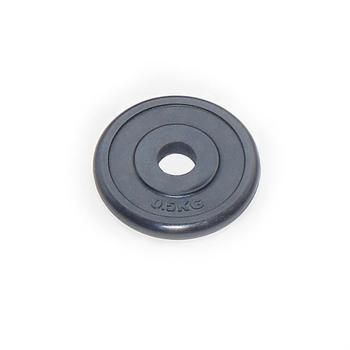 Диск JOHNS d26 мм черн. обрезиненный, 0,5кг (71019-0,5B/26) - фото 1