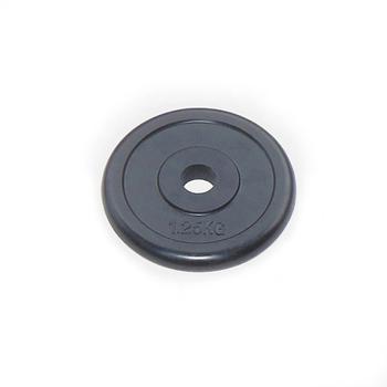 Диск JOHNS d26 мм черн. обрезиненный, 1,25кг (71019-1,25B/26) - фото 1