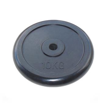Диск JOHNS d26 мм черн. обрезиненный, 10кг (71019-10B/26) - фото 1