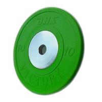 Диск тяжелоатлетический тренировочный DHS «VICTORY» 10 кг цветной