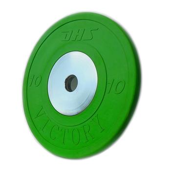 Диск тяжелоатлетический тренировочный DHS «VICTORY» 10 кг цветной  - фото 1