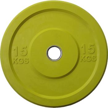 Диск APOLO Crossfit Bumper, цветной, 15 кг.  - фото 1