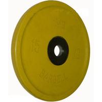 Диск BARBELL Евро-классик обрезиненный цветной, 15 кг.