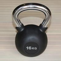 Гиря обрезиненная 16 кг.(с хромированной ручкой) (HK109-16)