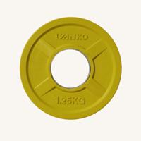 Диск JOHNS 1,25кг цветной обрезиненный, d51мм (71022-1,25С)