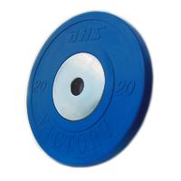 Диск тяжелоатлетический тренировочный DHS «VICTORY» 20 кг цветной