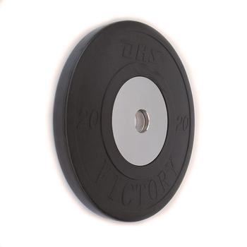 Диск тяжелоатлетический тренировочный DHS «VICTORY» 20 кг (черный)   - фото 1