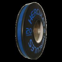Диск тяжелоатлетический тренировочный «Hercules» NEW, 20 кг. черно-синий