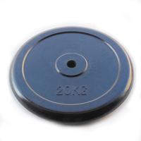 Диск JOHNS d26 мм черн. обрезиненный, 20кг (71019-20B/26)