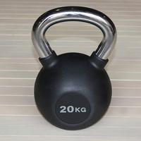 Гиря обрезиненная 20 кг.(с хромированной ручкой) (HK109-20)