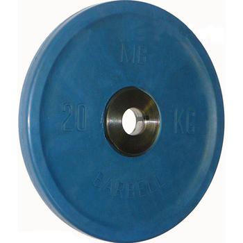 Диск BARBELL Евро-классик обрезиненный цветной, 20 кг.  - фото 1