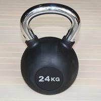 Гиря обрезиненная 24 кг.(с хромированной ручкой) (HK109-24)