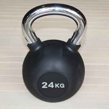 Гиря обрезиненная 24 кг.(с хромированной ручкой) (HK109-24) - фото 1