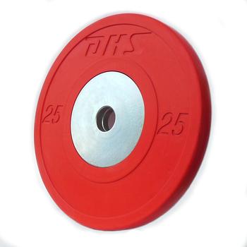 Диск тяжелоатлетический тренировочный DHS «VICTORY» 25 кг.(цветной)  - фото 1