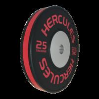 Диск тяжелоатлетический тренировочный «Hercules» NEW, 25 кг. черно-красный