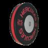 Диск тяжелоатлетический тренировочный «Hercules» NEW, 25 кг. черно-красный   - фото 2