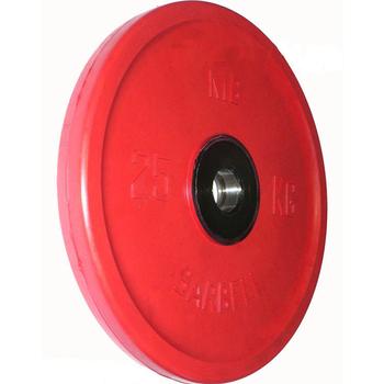 Диск BARBELL Евро-классик обрезиненный цветной, 25 кг.  - фото 1