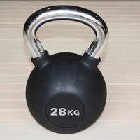 Гиря обрезиненная 28 кг.(с хромированной ручкой) (HK109-28)