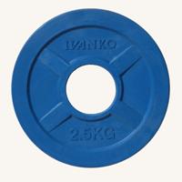 Диск JOHNS 2,5кг цветной обрезиненный, d51мм (71022-2,5C)