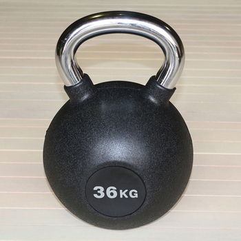 Гиря обрезиненная 36 кг.(с хромированной ручкой) (HK109-36) - фото 1