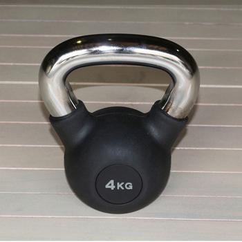 Гиря обрезиненная 4 кг.(с хромированной ручкой) (HK109-4) - фото 1
