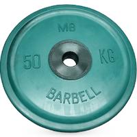 Диск BARBELL Евро-классик обрезиненный цветной, 50 кг.