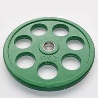 Диск JOHNS обрезиненный 10кг., d51мм., цветной (71023-10С)