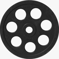 Диск JOHNS обрезиненный 10кг., d51мм., черный (71023-10В)