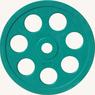 Диск JOHNS обрезиненный 10кг., d51мм., цветной  (71023-10С) - фото 2