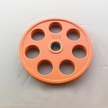 Диск JOHNS обрезиненный 15кг., d51мм., цветной (71023-15С) - фото 1