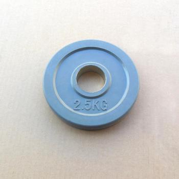 Диск JOHNS обрезиненный 2,5кг., d51мм., цветной (71023-2,5С) - фото 1