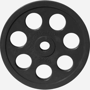 Диск JOHNS обрезиненный 20кг., d51мм., черный (71023-20В) - фото 1