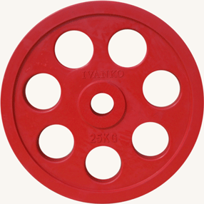 Диск JOHNS обрезиненный 25кг., d51мм., цветной (71023-25С) - фото 1