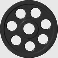 Диск JOHNS обрезиненный 5кг., d51мм., черный (71023-5В)