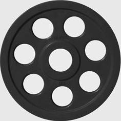 Диск JOHNS обрезиненный 5кг., d51мм., черный (71023-5В) - фото 1