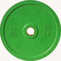 Диск JOHNS d51мм, цветной обрезиненный, 10кг (71025-10)