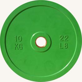 Диск JOHNS d51мм, цветной обрезиненный, 10кг (71025-10) - фото 1