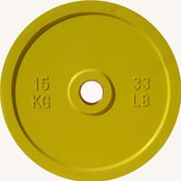 Диск JOHNS d51мм, цветной обрезиненный, 15кг (71025-15)