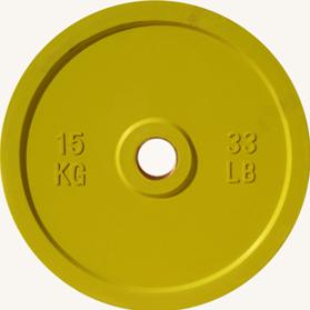 Диск JOHNS d51мм, цветной обрезиненный, 15кг (71025-15) - фото 1