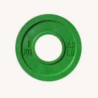 Диск JOHNS d51мм, цветной обрезиненный, 1кг (71025-1)