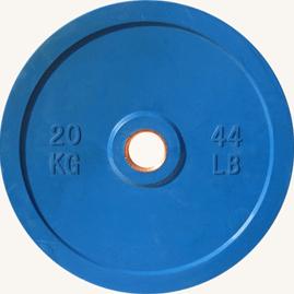 Диск JOHNS d51мм, цветной обрезиненный, 20кг (71025-20) - фото 1