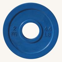 Диск JOHNS d51мм, цветной обрезиненный, 2кг (71025-2)