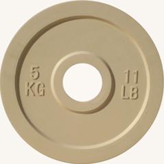 Диск JOHNS d51мм, цветной обрезиненный, 5кг (71025-5) - фото 1