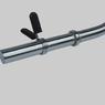 Гриф EZ-обр., d-30 мм, гладкая втулка, замок  пружинка (хром)   - фото 2