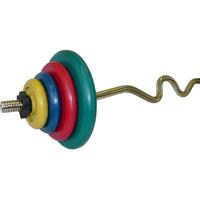Штанга гнутая EZ-образная 45 кг (МВ) цветная