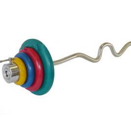 Штанга гнутая EZ-образная 50 кг (МВ) цветная  - фото 1