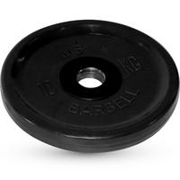 Диск BARBELL Евро-классик обрезиненный черный, 10 кг.