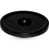 Диск BARBELL Евро-классик обрезиненный черный, 25 кг.