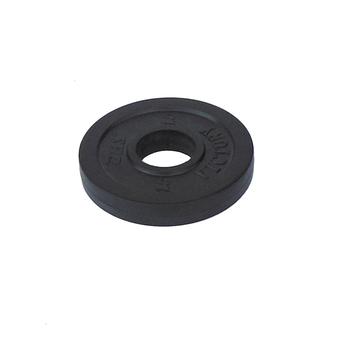 Диск тяжелоатлетический тренировочный DHS «VICTORY» 1,5 кг черный  - фото 1