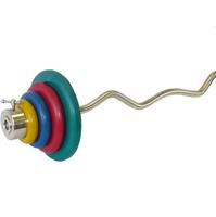 Штанга гнутая W-образная 50 кг (МВ) цветная
